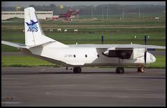 LZ-SFH - Oostende Bruges (OST) 13.05.2001 (Jakob_DK) Tags: 2001 ost ebos oostende ostend–brugesinternationalairport ostendairport antonov antonov26 an26 cargo curl sfb airsofia
