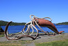 Giant Squid sculpture (jpotto) Tags: canada newfoundland sculpture squid giantsquid gloversharbour