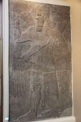 Neo-Assyrian Bas-Relief of Apkallu, Winged Protective Deity, Nimrud (Gary Lee Todd, Ph.D.) Tags: england assyria ancient middleeast london britishmuseum nimrud apkallu protectivedeity