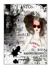 UrbanGirl4 (jimlaskowicz) Tags: illustration text city surreal grunge collage poster artistic jimlaskowicz girl urban
