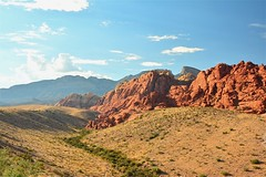 Red Rock Canyon's Calico Mountains (BlakeLewisPhotography) Tags: nikon photography beauty cool shade amazing beautiful red rock canyon desert las vegas nevada hot summer mountains landscape