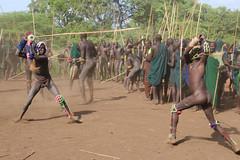 Fight (martien van asseldonk) Tags: ethiopia martienvanasseldonk donga surma stickfighting koka