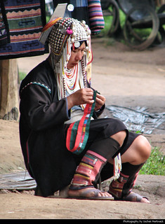 Woman from the Karen Hill Tribe, Chiang Rai Province, Thailand