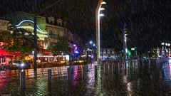I'm singing in the rain (YᗩSᗰIᘉᗴ HᗴᘉS +8 500 000 thx❀) Tags: rain rainy bordeaux france night reflets reflexion water song hensyasmine