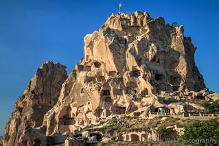 Uçhisar Castle, Nevşehir Province, Cappadocia Region, Central Anatolia, Turkey