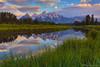 "Sunrise at Schwabacher's Landing (IronRodArt - Royce Bair (""Star Shooter"")) Tags: schwabacherslanding schwabacher reflection beaverpond tetons grandteton grandtetons grandtetonnationalpark pond grass grassy"