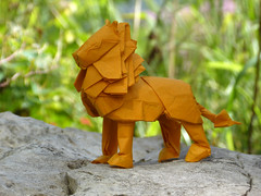 Lion (  2017 ) (bodorigami) Tags: lion origami complex yellow paper paperfolding papier gelb löwe 225 degree bodo bodorigami