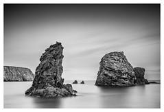 Ballydowane Seastack (Minibert93) Tags: sky seascape longexposure bigstopper coppercoast canon rocks reflections ireland