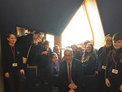 With Longniddry pupils at Parliament