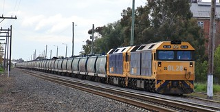 BL28 and BL31 have pushed back into Murtoa yard after loading their train