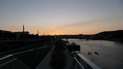 Rouen - Soleil couchant sur la Seine (jeanlouisallix) Tags: rouen seine maritime haute normandie france soleil couchant sunset rivère fleuve berges quais paysages landscape perpective
