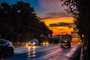Sunset in the city (Vagelis Pikoulas) Tags: sun sunset city cityscape landscape colours color colors greece athens canon 6d tamron 70200mm street road car cars reflection reflections autumn september 2017 lights sky clouds