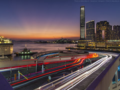 Ocean Terminal, Hong Kong (mikemikecat) Tags: oceanterminal 海運大廈 香港 twilight nightscape nightview night 夜景 mikemikecat house stacked structures street scenery 建築 建築物 nightscapes sunset lighttrails twlight 尖沙咀 天星碼頭 starferrypier magicmoment 天際線 olympus olympusomd 夕空 夕暮れ 夕焼け 反曙暮輝 rays evening