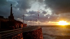 Stormy Sunset (hurlham) Tags: aberystwyth sunset sea stormy clouds warmemorial