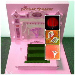 "concept/box ""my pocket theater"" (kiridarchi) Tags: popup theater mini origami kirigami kiridarchi papier paper box case jewellery"