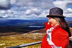 Admiring the view. (Fr Paul Hackett) Tags: carol mountain clouds landscape lochmorlich rock roughground