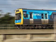 Hello Metro (Thunder1203) Tags: metrotrains mordialloccreek olympusomdem10 panningshot tourism trainline trains electrictrain
