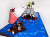 Blow, Harry, Blow! (Dwalin Forkbeard) Tags: lego moc pirates ship sea ocean brave harpoon fish island palm raft escape wind whale teeth monster beast