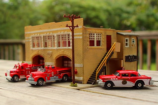 1950s picnic table fire station.