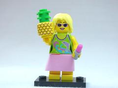 Brick Yourself Custom Lego Figure Party Girl