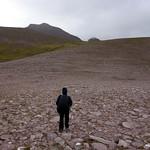 Crossing Sron a Choire with Bidean a' Ghlas Thuill up ahead thumbnail