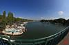 Vue de la Seine et ses bateaux-logement vers le nord (mamnic47 - Over 8 millions views.Thks!) Tags: saintcloud passerelledelavre 02092017 gustaveeiffel 6c8a1882