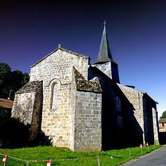 Église de la Croix Glorieuse, Razès (pom'.) Tags: panasonicdmctz30 stage 5000 300 100 200 400 razès bellac ambazac hautevienne nouvelleaquitaine 87 france europeanunion august 2017 church 12thcentury