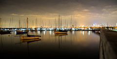 Simply (Keith Midson) Tags: melbourne stkilda boats yachts still calm tranquil night evening city water sky jetty pier