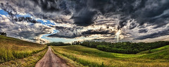 IMG_3990-94Ptzl1TBbLGER (ultravivid imaging) Tags: ultravividimaging ultra vivid imaging ultravivid colorful canon canon5dmk2 clouds stormclouds scenic summer sky landscape lateafternoon road fields farm pennsylvania pa panoramic rural rainyday