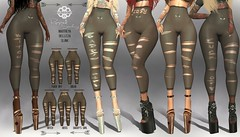 [GUNSHOT] Ripped Stockings FATPACK ({ GunShot }) Tags: second life secondlife sl maitreya belleza slink appliers stockings leggings socks tights ripped