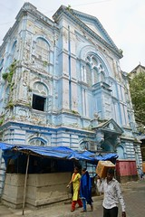 Eliyahu synagogue, Mumbai (Yekkes) Tags: asia mumbai india bombay synagogue synagogueeliyahu decay blue sad delapidated neglected jewish temple street urban peeling lookup