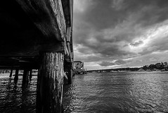 DSC01014 (Damir Govorcin Photography) Tags: pier clouds blackwhite wide angle natural light zeiss 1635mm sony a7rii