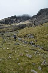 DSC_9350 (nic0704) Tags: scotland hiking walking climbing summit highlands outdoor landscape hill mountain foothill peak mountainside cairn munro mountains skye isle island cuilin cuillin blaven blà bheinn red black elgol