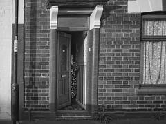 Untitled (walkdontthink) Tags: streetphotography micro43 blackandwhite bnw bw people bristol southwest uk backstreet urban nikon j1 old monochrome contrast shadow shade silhouette black white brickwork bs5 oldage