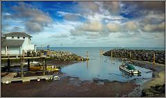 Ventnor Harbour, again............ (Jason 87030) Tags: sea tide coast beach seaside ventnor island iow isleofwight harbour water rocks boat fishing august 2017 clouds sky