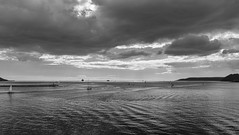Plymouth Sound. (Go placidly amidst the noise and haste...) Tags: plymouth plymouthhoe thehoe hoe devon southwest westcountry mono blackandwhite blackwhite sky cloud clouds boat yacht yachts plymouthsound thesound sound