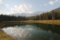 Time to reflect (davebloggs007) Tags: lake reflection clouds alberta canada