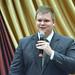 Fodor Csaba politológus, a Nézőpont Intézet vezetője beszél a Keresztény Értelmiségiek Szövetsége országjáró kerekasztal-beszélgetésének sajószentpéteri állomásán 2017. szeptember 20-án. (Fotó: Váli Miklós)