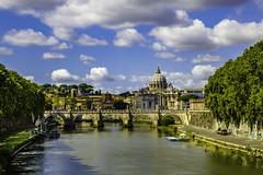 Looking back (sumnerbuck) Tags: rome vatican river bridge water color flickrdiamond diamondclassphotographer