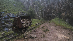 Forbidden Mines (ponzoñosa) Tags: mine mina lagos covadonga europa asturias erasmus enol piedra stones mineral rail train