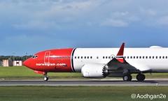 Norwegian Air International | EI-FYC | Boeing 737-8 MAX (aodhgn_tuohy) Tags: rednose winglet engine travel passenger jet ireland dublin aviation airline airport international air norwegian max8 7378max 737 boeing