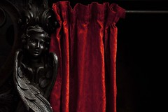 Confesse (Gerard Hermand) Tags: 1709149725 gênes genoa confessionnal confessional ange angel curtain gerardhermand eos5dmarkii black bois church italie italy noir red rideau sculpture rouge wood eglise canon