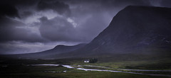 No Neighbours! (grahamhutton) Tags: leefilters scotland highlands scottishhighlands sony18105mmf4oss sonya6000 lagangarbhhut buachailleetivemor rivercoupall buachailleetivebeag wet rain clouds scottishmountaineeringclub
