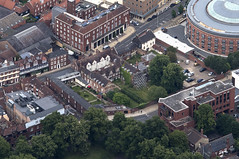 The old Bethel Street Hospital in Norwich - UK aerial (John D Fielding) Tags: norwich bethelstreet hospital aerial norfolk aerialphotograph aerialphotography aerialimage aerialview aerialimagesuk viewfromplane britainfromabove britainfromtheair hirez highresolution hidef highdefinition hires