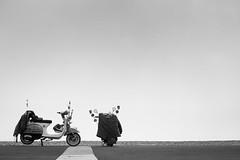 who (dizbin) Tags: bw blackandwhite blancoynegro bike motorbike scooter vesper candid dizbin england em10 hampshire hants uk light landscape lines minimal monochrome minimum mono mzuiko noiretblanc olympus omd outdoors om omd10 photo photograph photography prime portsmouth street streetphotography sea seafront southsea negativespace schwarzundweiss mod thewho froudy