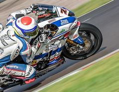 British Super Bikes #27 Jake Dixon. (dave.mcculley) Tags: britishsuperbikes jakedixon raf royalairforce motorsport motorbike motorracing oultonpark bsb blue low pov racing panning road track racetrack championship