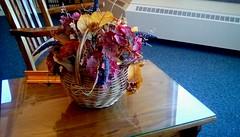 Autumn basket! (Maenette1) Tags: spiespubliclibrary autumn basket table decoration chair menominee uppermichigan flicker365 michiganfavorites