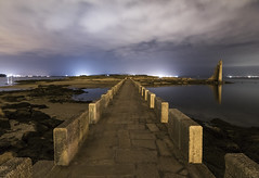Towards the Past (Alberto Cachafeiro) Tags: mar nubes puente nocturna pontevedra galicia cambados torredesansadurniño
