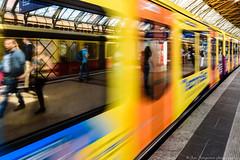 Berlin S-Bahn (JanJungerius) Tags: deutschland duitsland germany berlin berlijn sbahnhof bahnhof station zug trein train bahnsteig perron platform spiegelung reflections weerspiegeling nikond750 tamronsp2470mm