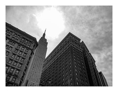 160510_0872_160510 113822_oly_S1_New York (A Is To B As B Is To C) Tags: aistobasbistoc usa newyork newyorkstate roadtrip travel olympus stylus1s bw manhattan empirestatebuilding broadway 6thave w34thst skyscraper sky city cityscape tower towers towerblock highrise clouds independenceday garmentdistrict heraldtowers
